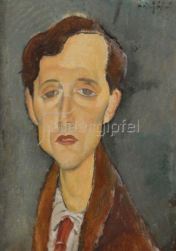 Amadeo Modigliani: Porträt von Franz Hellens (1881-1972). 1919