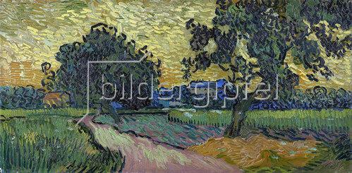 Vincent van Gogh: Landschaft in der Dämmerung