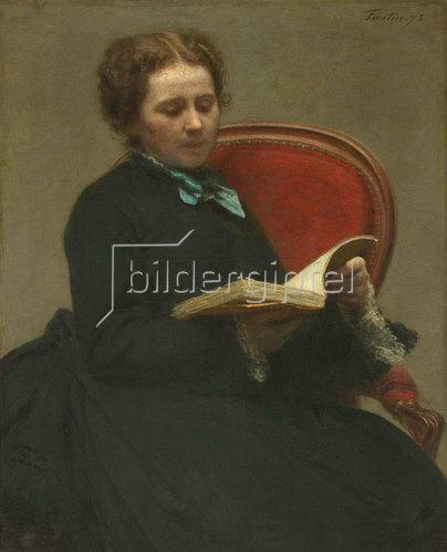 Henri de Fantin-Latour: Porträt von Victoria Dubourg. 1873