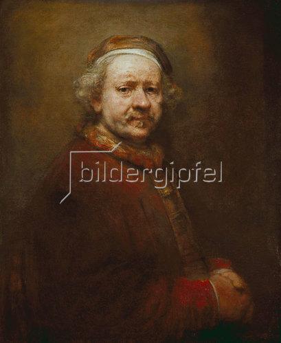 Rembrandt van Rijn: Selbstbildnis im Alter von 63 Jahren. 1669