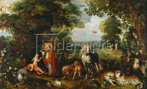 Jan Brueghel d.Ä.: Das Paradies.