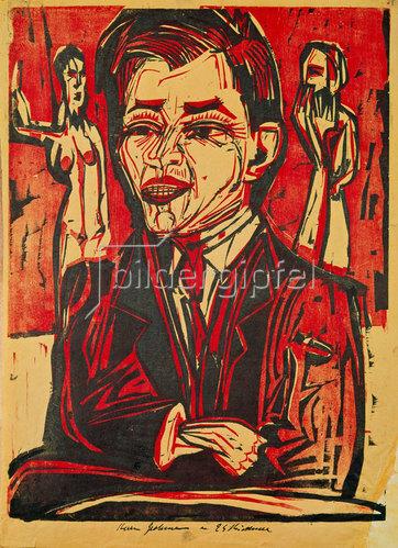 Ernst Ludwig Kirchner: Selbstbildnis.
