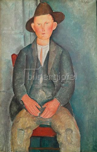 Amadeo Modigliani: Der kleine Bauer. Um 1918