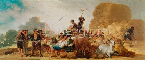 Francisco José de Goya: La Era o El Verano (Die Tenne oder Der Sommer). 1786