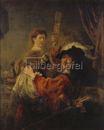 Rembrandt van Rijn: Selbstbildnis mit Saskia. Um 1635.
