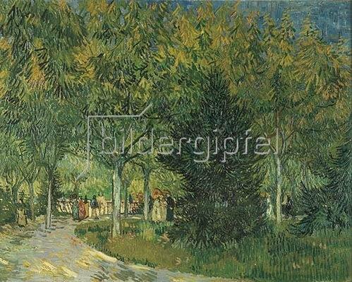 Vincent van Gogh: Promenadenpark mit Figuren, Jardin du Poete (Arles). 1888.