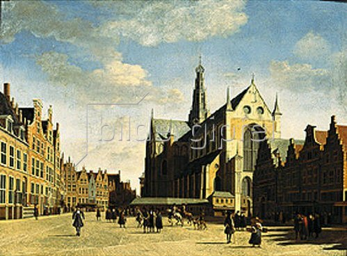 Gerrit Adriaensz Berckheyde: Der große Markt in Haarlem. 1696.