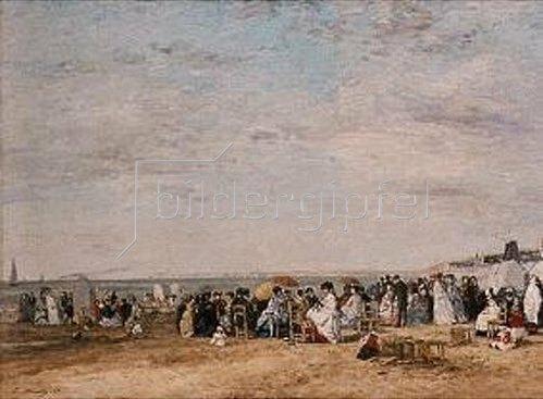 Eugène Boudin: Strandleben in Trouville. 1867.
