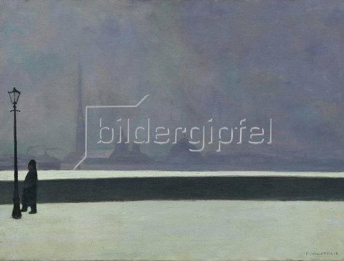 Felix Vallotton: Die Newa, leichter Nebel. 1913