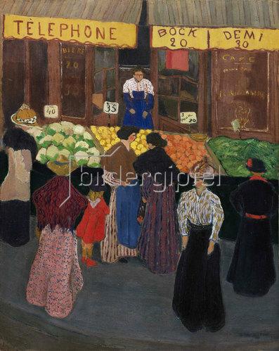 Felix Vallotton: Auf dem Markt (Au marché). Um 1895