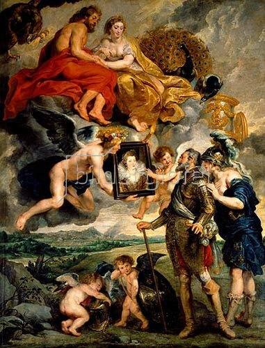 Peter Paul Rubens: Aus dem Medici-Zyklus: Heinrich IV. empfängt das Bild der Maria Medici.