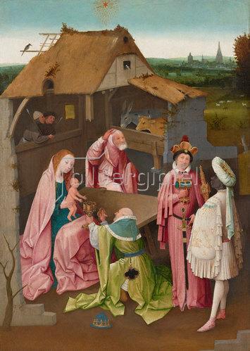 Hieronymus Bosch: Die Anbetung der Könige. Um 1490-1510