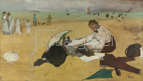 Edgar Degas: Am Strand. Um 1869-70