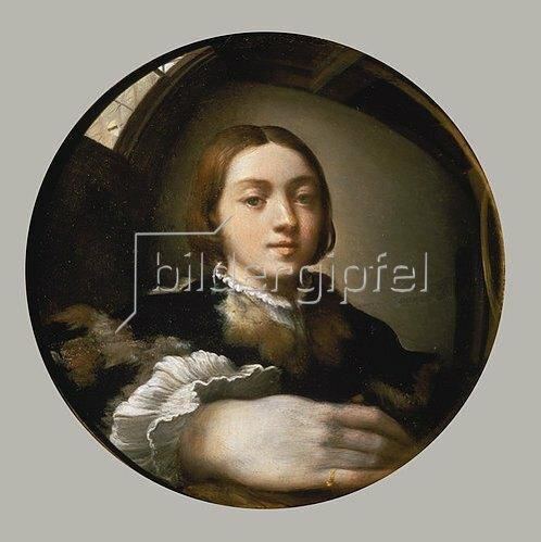 Parmigianino (Francesco Mazzola): Selbstbildnis im Konvexspiegel. 1523/24