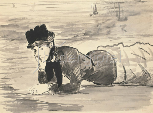 Edouard Manet: Annabel Lee am Strand. Um 1881