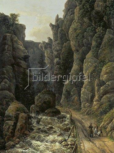 Johan Christian Clausen Dahl: Schlucht in der sächsischen Schweiz. 1820.