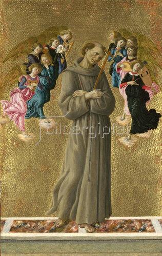 Sandro Botticelli: Heiliger Franziskus mit Engeln. Um 1475-80