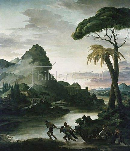 Théodore Géricault: Heroische Landschaft mit Fischern. 1818