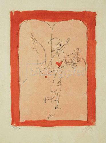 Paul Klee: Ein Genius serviert ein kleines Frühstück. 1920