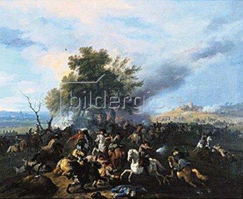 Jan van Huchtenburgh: Reitergefecht.