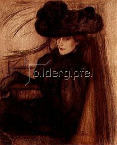 József Rippl-Rónai: Dame mit schwarzem Schleier (Mme.Mazet). 1896