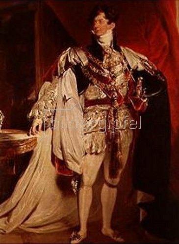 Sir Thomas Lawrence: Georg IV. von England (Ausschnitt).