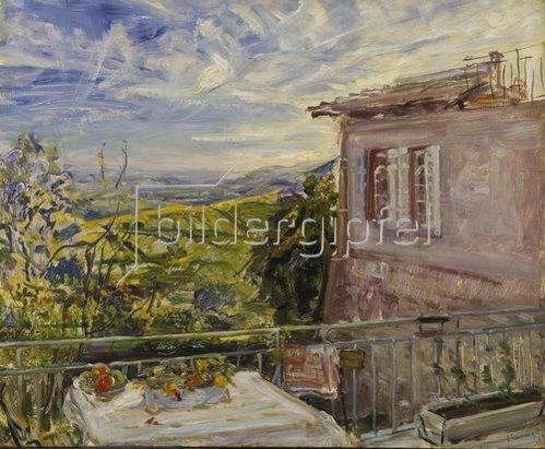 Max Slevogt: Terrasse auf Neukastel. 1924.