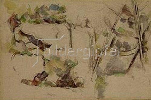 Paul Cézanne: Steinbruch bei Bibémus. 1898.