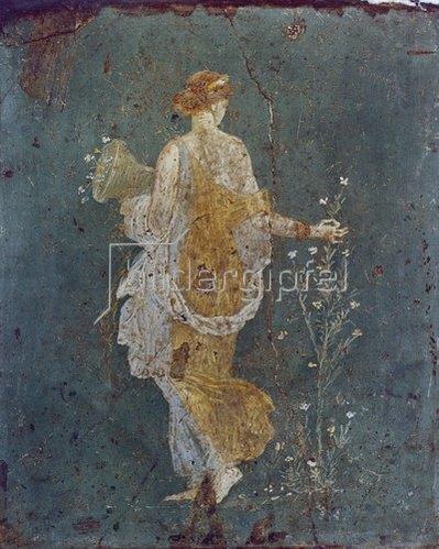 Pompeji: Flora mit dem Füllhorn.