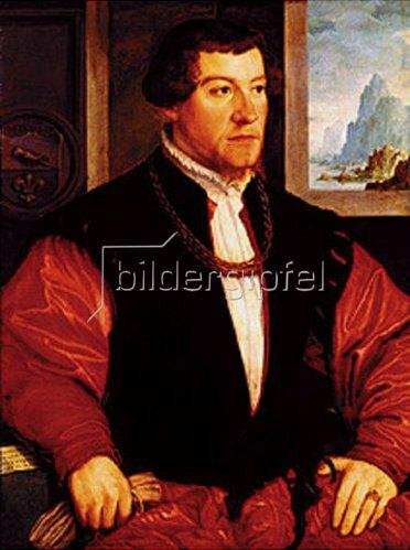 Christoph Amberger: Bildnis des Christoph Baumgartner. 1529.