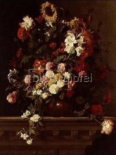 Jean Baptiste Monnoyer: Blumenstilleben. Lwd., 146 x 112 cm.