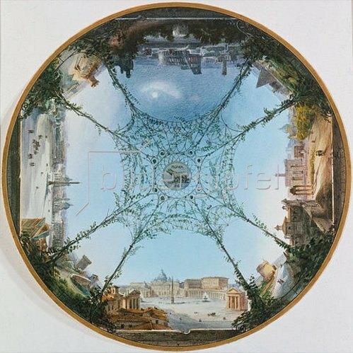 Michel Angelo Barberi: Römische Ansichten im Rund. 1842.