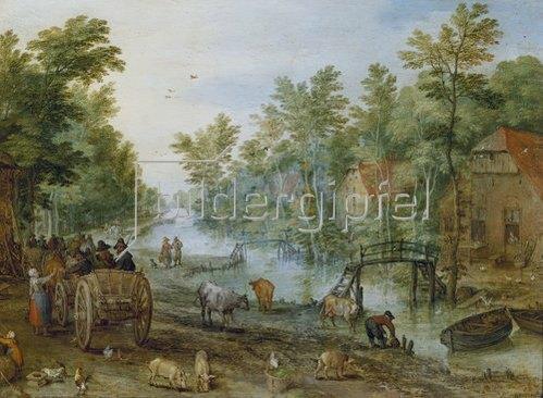 Jan Brueghel d.J.: Belebte Straße.