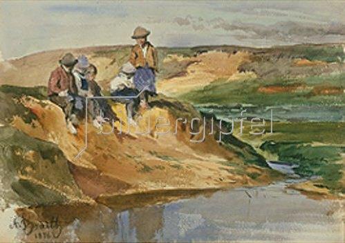 Anton Braith: Kinder am Ufer. 1876.