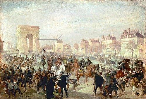 Louis Braun: Einzug der deutschen Truppen mit Bismarck in Paris am 3.März 1871.
