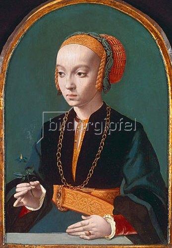 Bartholomäus Bruyn d.Ä.: Weibliches Bildnis.