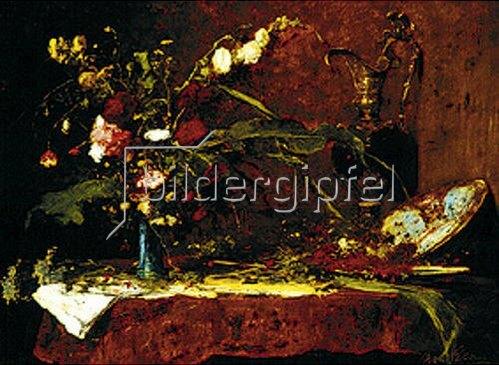 Mihály Munkácsy: Großes Blumenstilleben. 1881