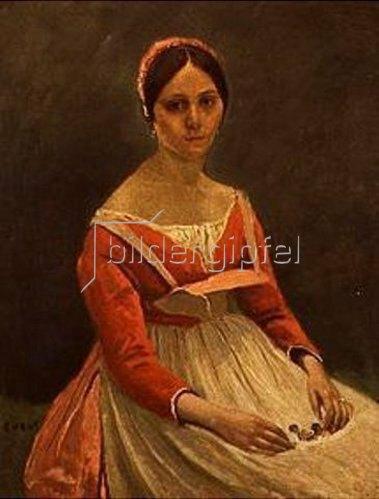 Jean-Baptiste Camille Corot: Bildnis einer jungen Frau.
