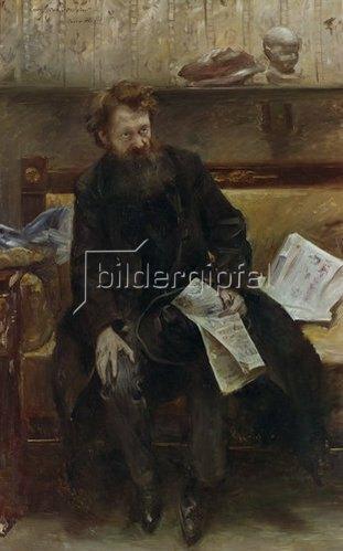 Lovis Corinth: Der Dichters Peter Hille, Bildnis, 1902.