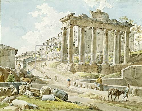 Johann Georg von Dillis: Das Forum Romanum beim Saturntempel. 1818/1819.