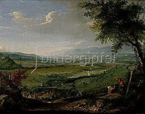 Johann Jakob Dorner d.Ä.: Landschaft bei Ehrenstetten.