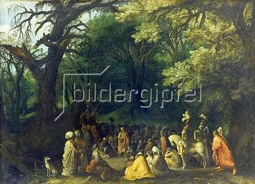 Adriaen van Stalbemt: Die Predigt Johannes des Täufers.