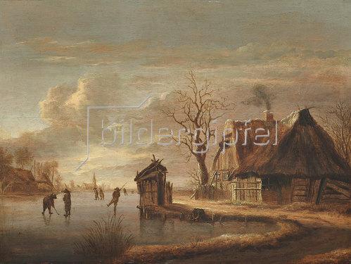 Raffael G Camphuysen: Winterlandschaft mit Bauernhaus