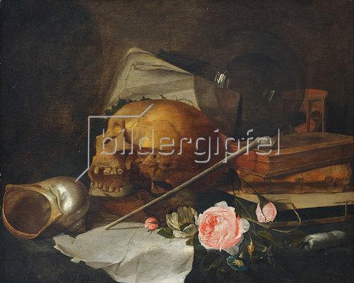 Jan Davidsz de Heem: Stillleben mit Totenkopf