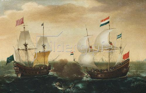 Cornelisz Verbeeck: Ein Gefecht zwischen einem niederländischen und einem türkischen Schiff