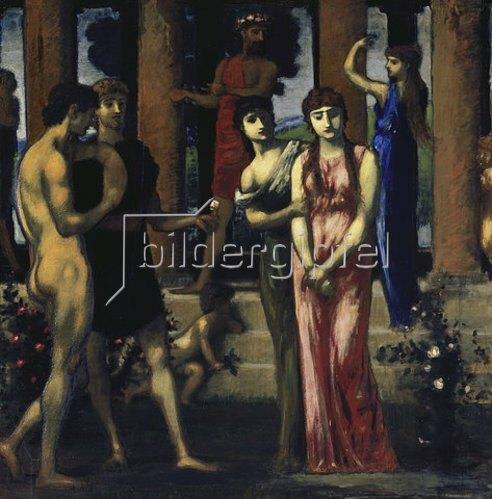 Hans von Marées: Die Hochzeit. Mitteltafel des Trip- tychons Die Werbung. 1884/85-1887
