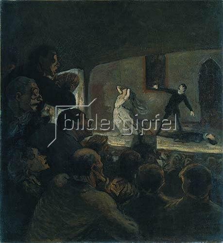 Honoré Daumier: Das Drama. Gegen 1860.