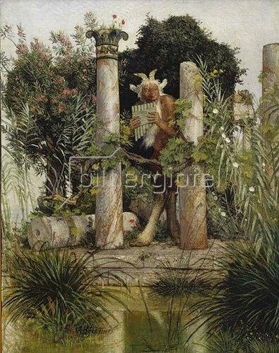 Arnold Böcklin: Idylle (Pan, die Syrinx blasend). 1875
