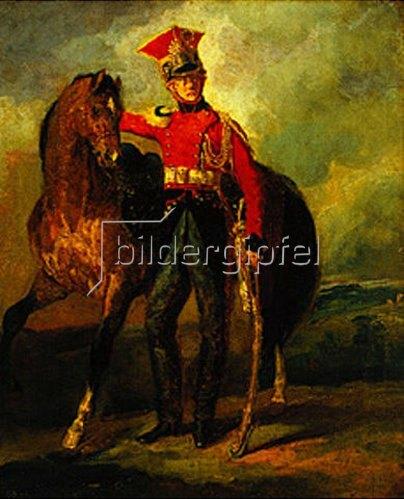 Théodore Géricault: Roter Lanzenreiter der kaiserlichen Garde. 1812/1816.