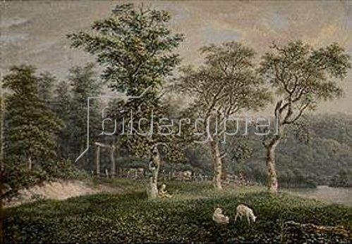 Salomon Gessner: Baum- und Weidenlandschaft.